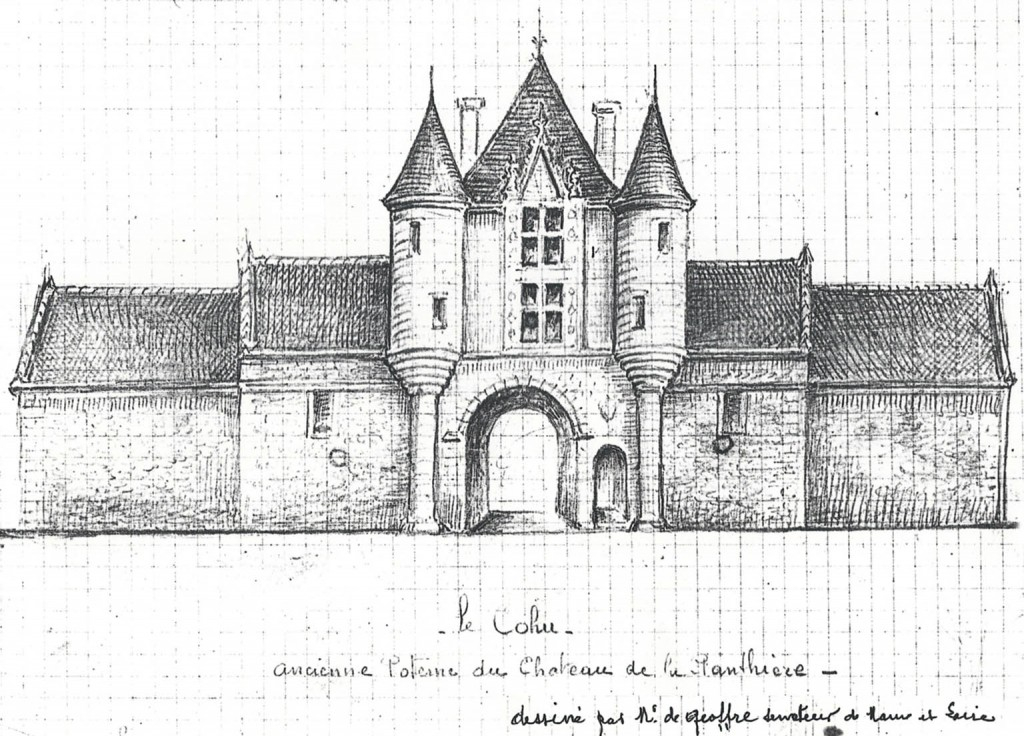 ancienne poterne du château de la Penthière