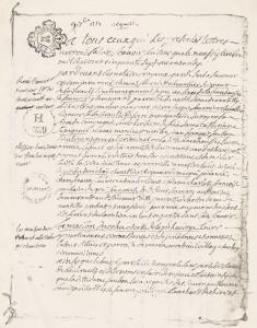acte notarie du 09-09-1757