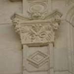 pilastre, cercle, losange
