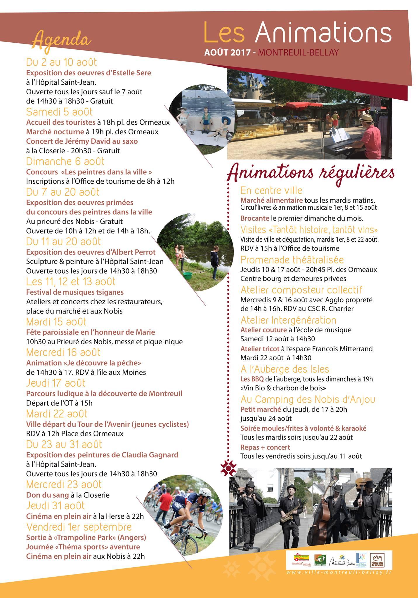 Ce mois ci montreuil bellay g te rural en anjou - Office de tourisme montreuil ...